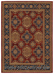 Istanbul 51802 rustic red-blue