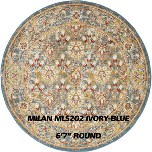 MILAN MLS202 IVORY-BLUE