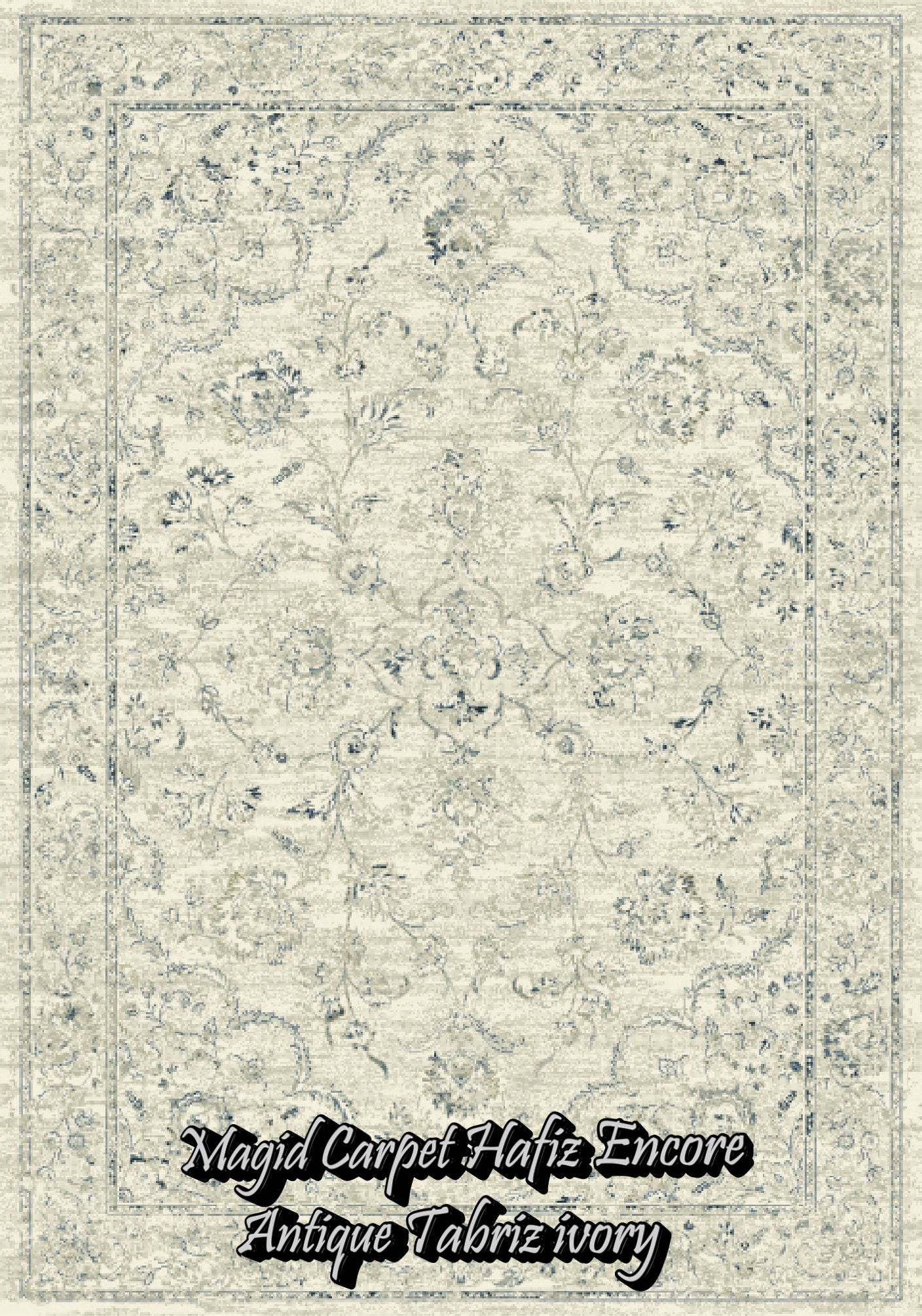 Antique Tabriz Ivory