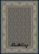 Load image into Gallery viewer, Herati Navy/Ivory