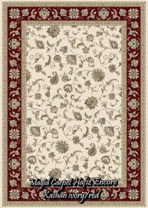 Kashan Ivory/Red