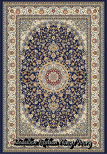 Load image into Gallery viewer, Medallion Isfahan Navy/Ivory