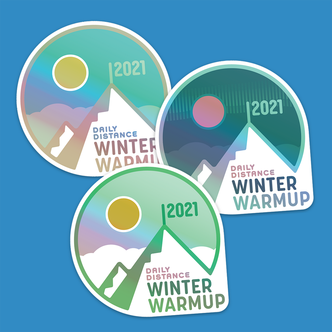 Holographic stickers (pack of 3): Winter Warmup