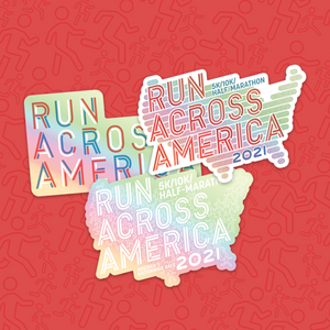 Holographic stickers (pack of 3): Run Across America