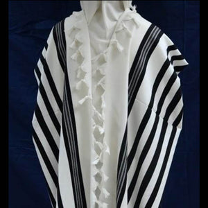 Basic black stripe Tallit Gadol