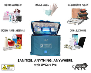 UVCare Pro | Large Volume UV Sanitizer for Masks, Groceries, Laptops, Purses, Cash, Mobile Phones, Boots, Baby Products, Bottles, Vegetables, Household Items | For Room, Home, Office Use