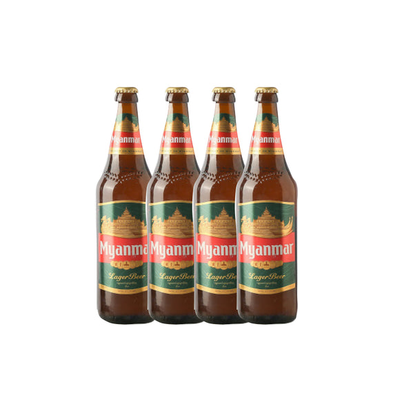 Myanmar Lager Beer 640Ml ( 4 Bots )