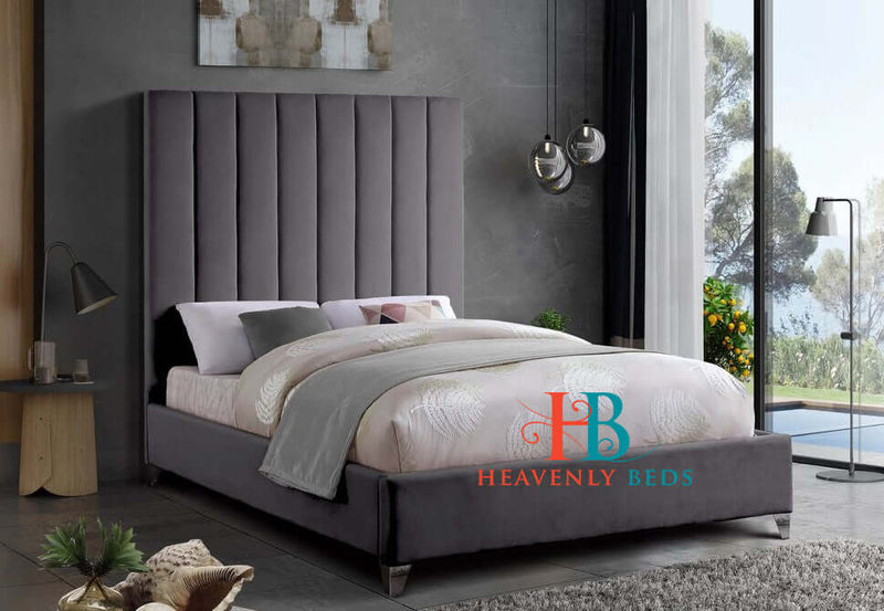 "Alexis Panel Upholstered 54"" Bed Frame Heavenlybeds Exclusive Product"