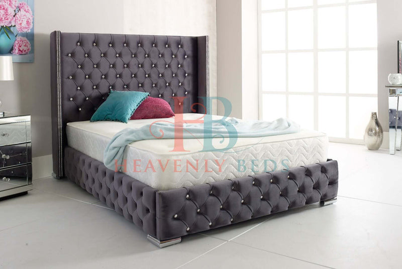 Erika Full Chesterfield Wingback Bed Frame Exclusive to Heavenlybeds