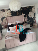 Roseline Lined Wingback Bed Frame Exclusive to Heavenlybeds