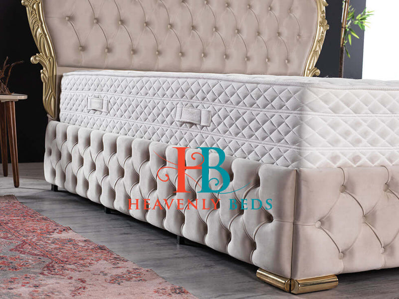 "Giovanni Crown Bed with 60"" Headboard Limited Edition One of A Kind"