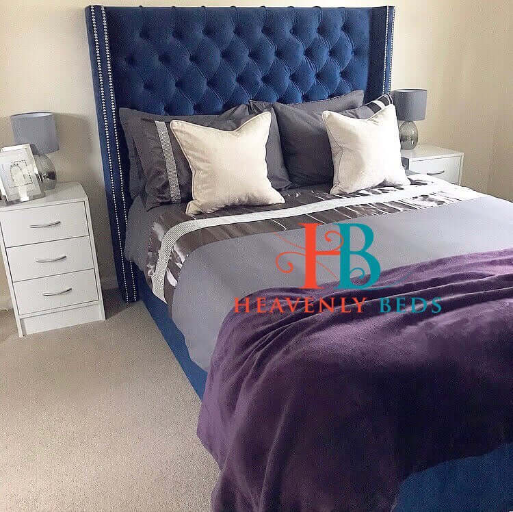 Arthur Royale Wingback Bed Frame Only at Heavenlybeds