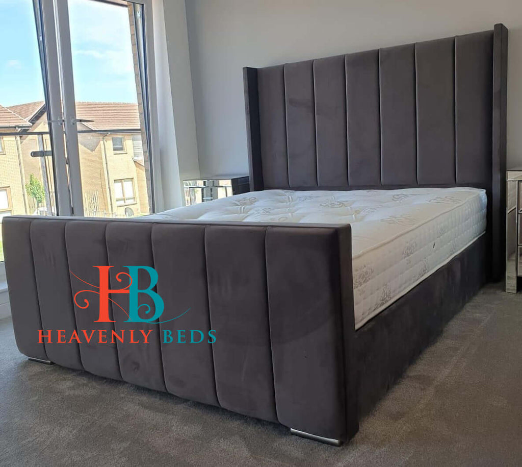 Petra Panel Bed Frame With High Footboard Only At Heavenlybeds