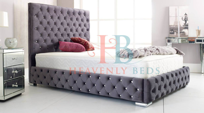 Park Lane Full Chesterfield Wingback Bed Frame a Heavenlybeds Exclusive