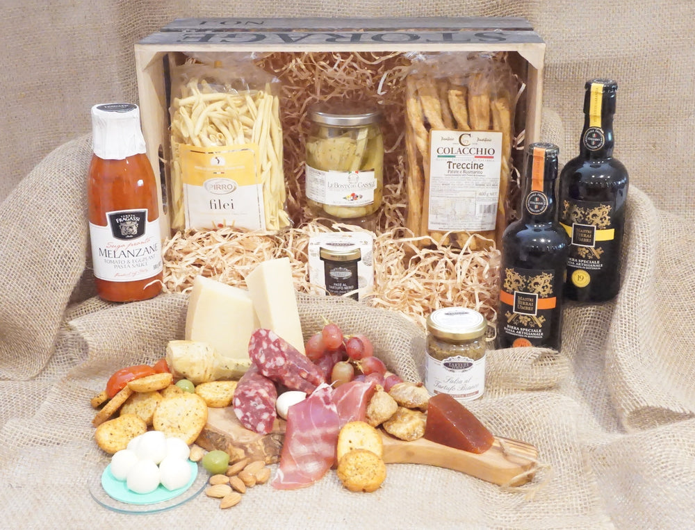 Gourmet Cheese Basket with Black Truffle & Grissini sticks