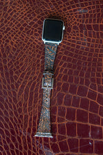 Load image into Gallery viewer, Brown Tooled Leather Watch Band