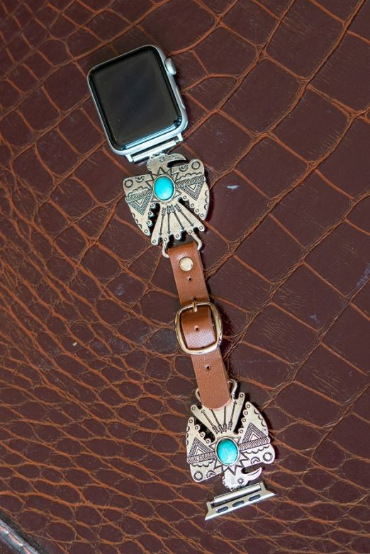 Aztec Faux Leather Smartwatch Band