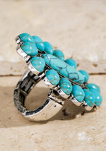 Load image into Gallery viewer, Boho Inspired Oval Stone Stretch Ring