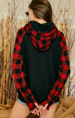 Load image into Gallery viewer, Buffalo Plaid Hoodie