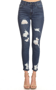 Super Distressed High-Rise Hammer Jeans