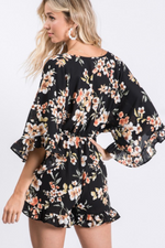 Load image into Gallery viewer, Floral Drawstring Romper