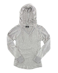 Women's Cuddle Fleece V-Neck Hooded Pullover