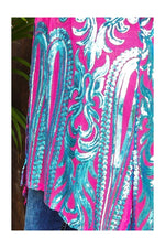 Load image into Gallery viewer, Pink & Jade Ornate Sequin Duster