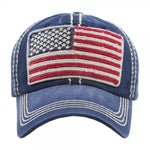 Load image into Gallery viewer, Distressed American Flag Cap