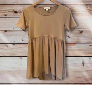 Light Mocha Babydoll Top