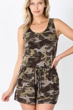 Load image into Gallery viewer, Camo Sleeveless Romper
