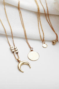 Crescent Moon Multi-Layered Necklace