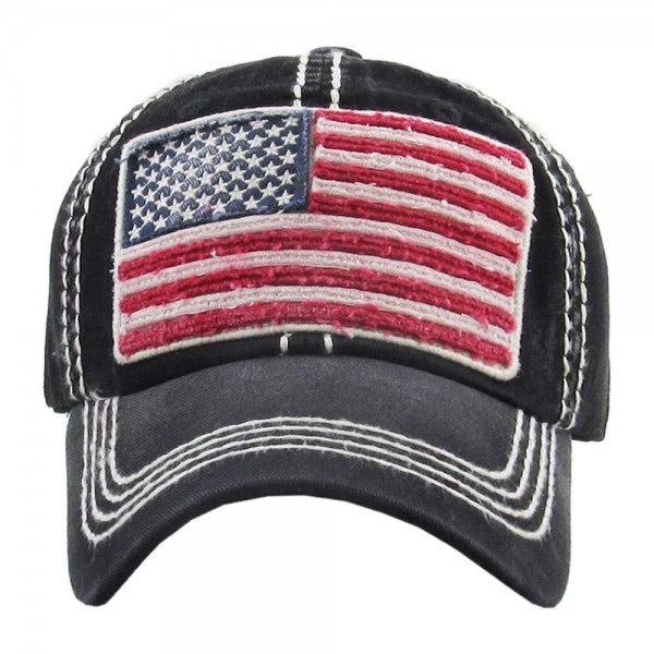 Distressed American Flag Cap