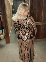 Load image into Gallery viewer, Royal Sequin Duster in Black/Gold