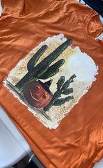 Load image into Gallery viewer, Cactus + Jack-O-Lantern Graphic Tee