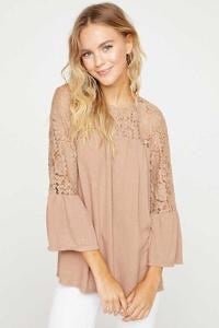 Taupe Lace Top