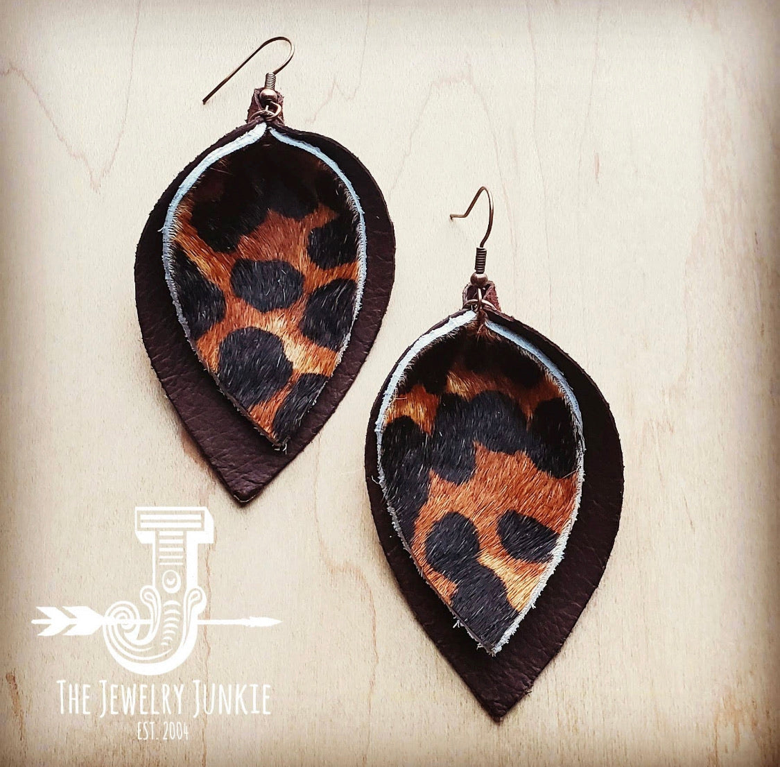 Leather Double Stacked Earrings