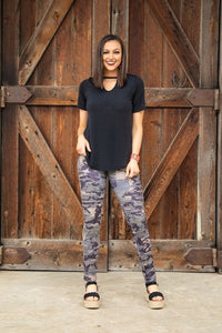 Vintage Camo Motto Jeggings