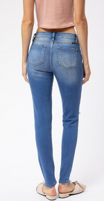 Load image into Gallery viewer, Light-Wash Mid-Rise Kancan Jeans
