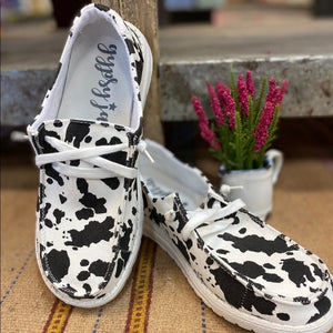 Cow Print Gypsy Jazz Loafer