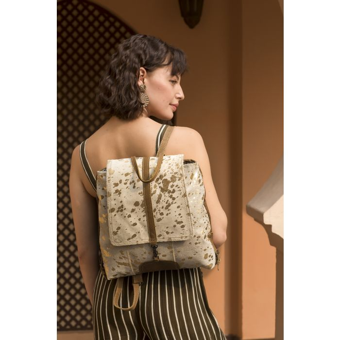 MYRA BAG • Silvery Touch Leather & Hairon Bag