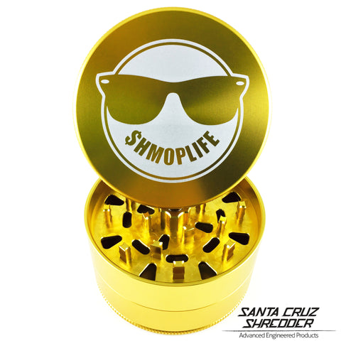 Large 3 Piece $hmoplife Gold Shredder