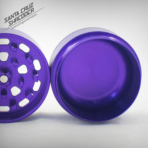 Medium 3 Piece Shredder - Purple