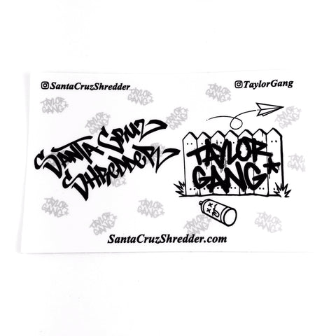 Santa Cruz Shredder Sticker Pack