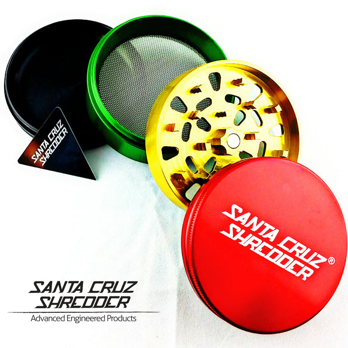 Large 4-piece Rasta Shredder