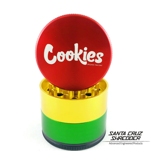 Medium 4 Piece Rasta Cookies Shredder