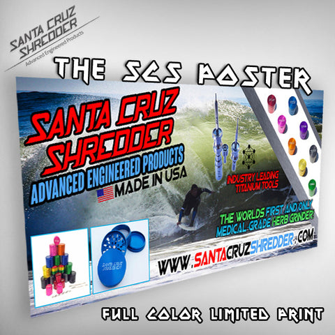 The Santa Cruz Shredder Poster - 24 x 48 Inches