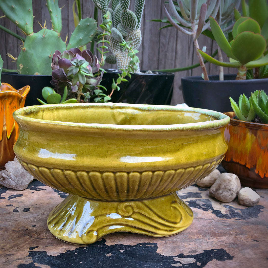 California Pottery Green Ceramic Planter 9