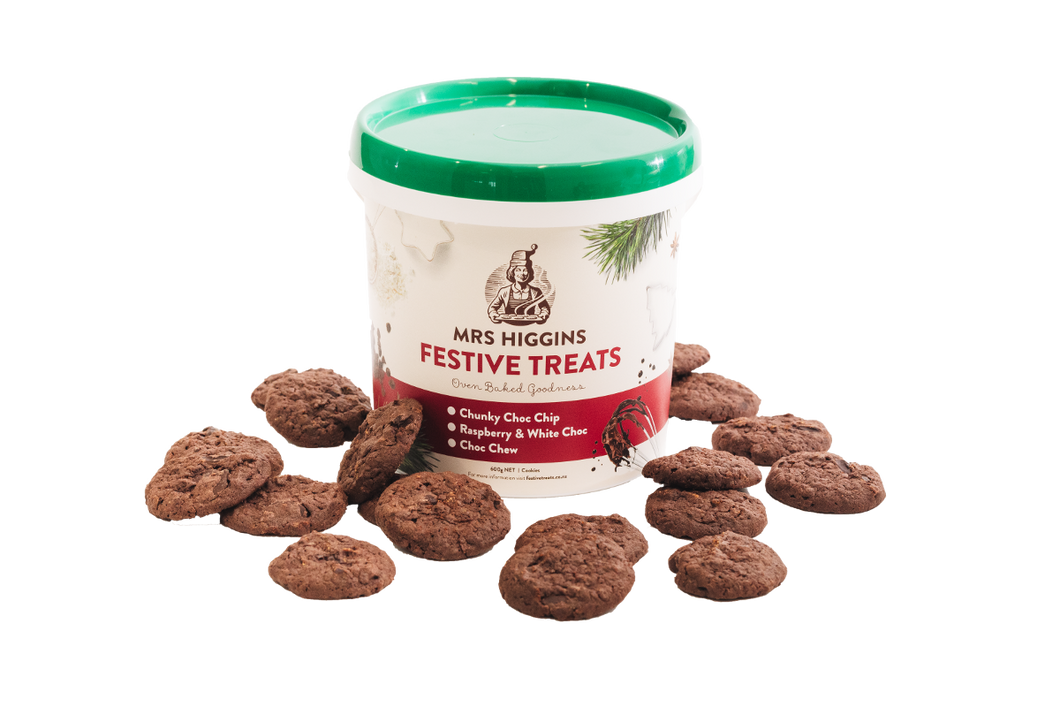 Festive Treats Choc Chew Cookie Bucket - Limited Time Only