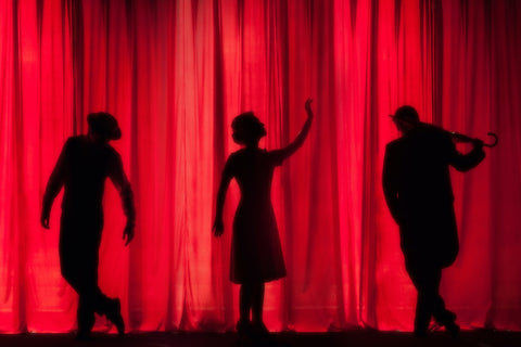 Silhouettes on stage