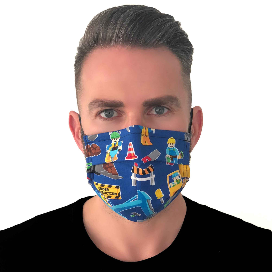Lego Face Mask 3 Layers - Kids and Adult sizes - Face Masks Made in Canada -Masques en tissu fait a quebec